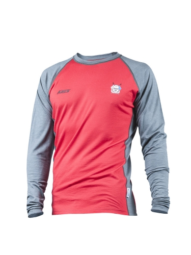 Mens Crew 200 Red/Grey aluspaita